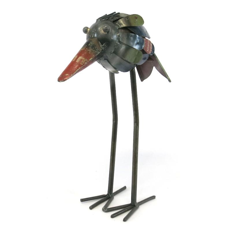 Deko figur aus recycling metall stelzvogel 14 99 Deko aus metall