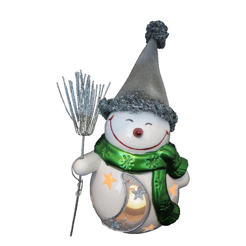 Jetzt kaufen! Keramik / Metall Weihnachtsschneemann - Kerzenhalter ...
