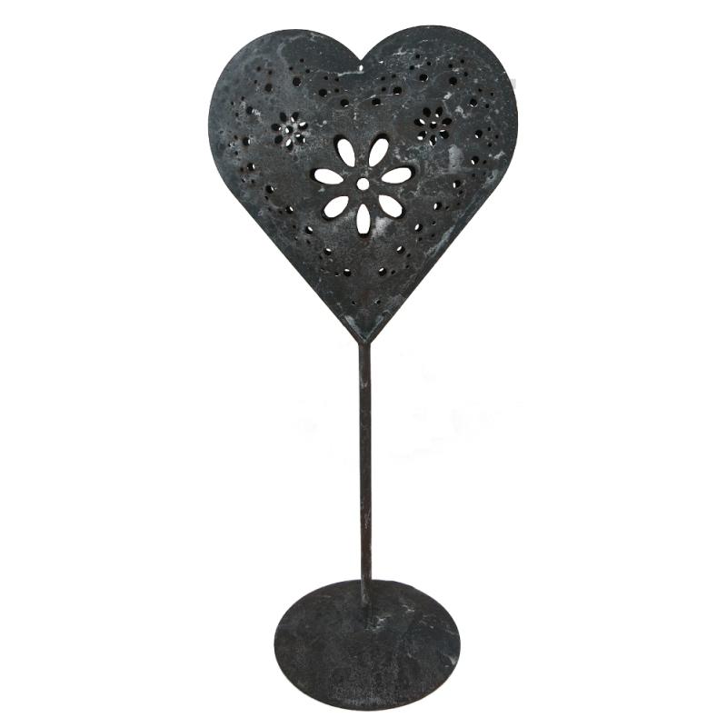 deko herz aus metall 28 5cm herz auf standfu. Black Bedroom Furniture Sets. Home Design Ideas