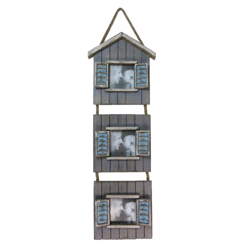 jetzt kaufen holz bilderrahmen collage shabby 18 x 64 cm. Black Bedroom Furniture Sets. Home Design Ideas