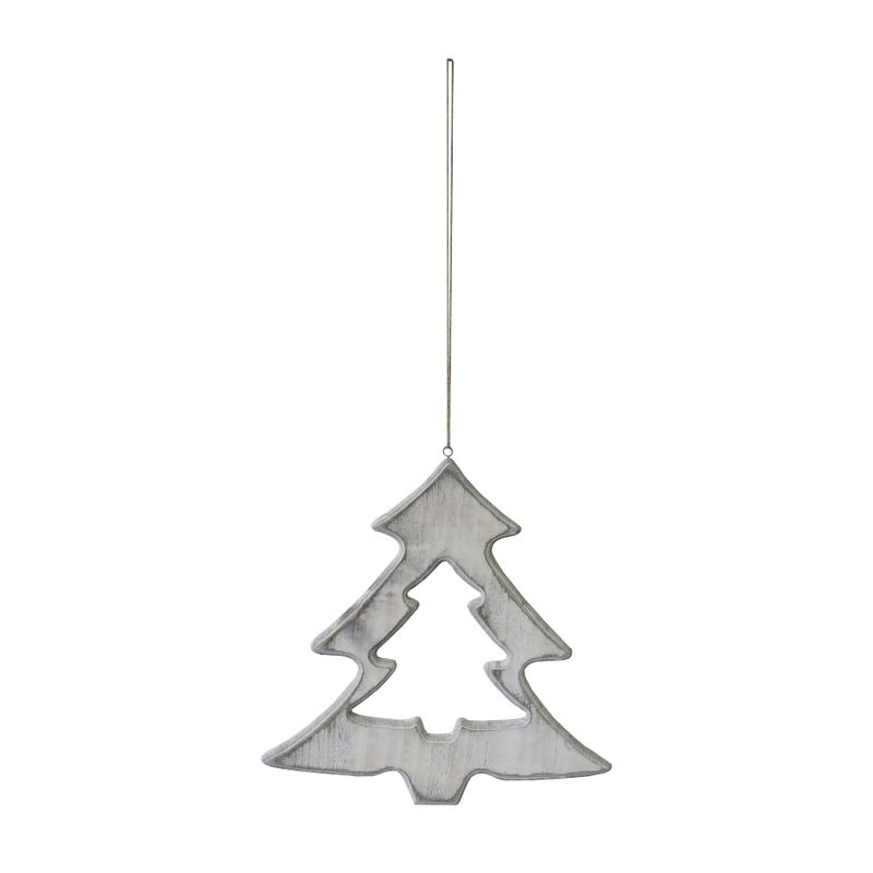 jetzt kaufen holz deko h nger weihnachtsbaum mit kordel. Black Bedroom Furniture Sets. Home Design Ideas