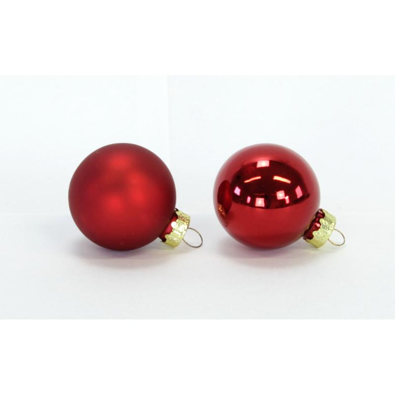 glas weihnachtskugeln 20 st ck 4cm rot 5 99 de. Black Bedroom Furniture Sets. Home Design Ideas