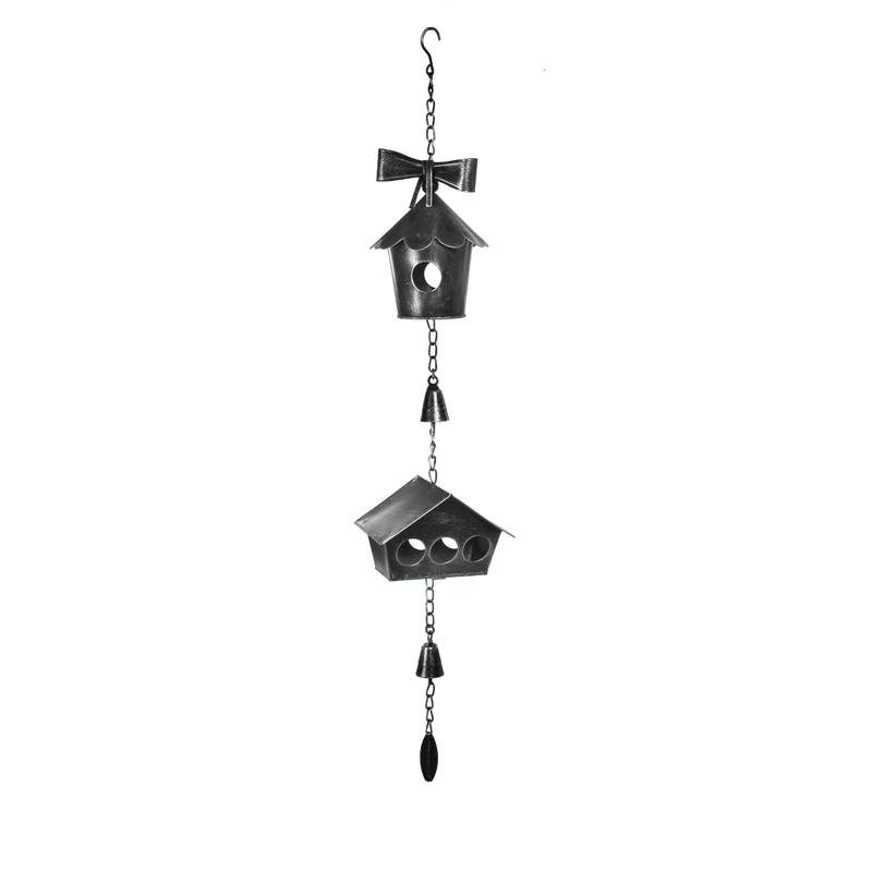 Jetzt kaufen deko h nger metall vogelhaus schwarz silber for Metall deko shop