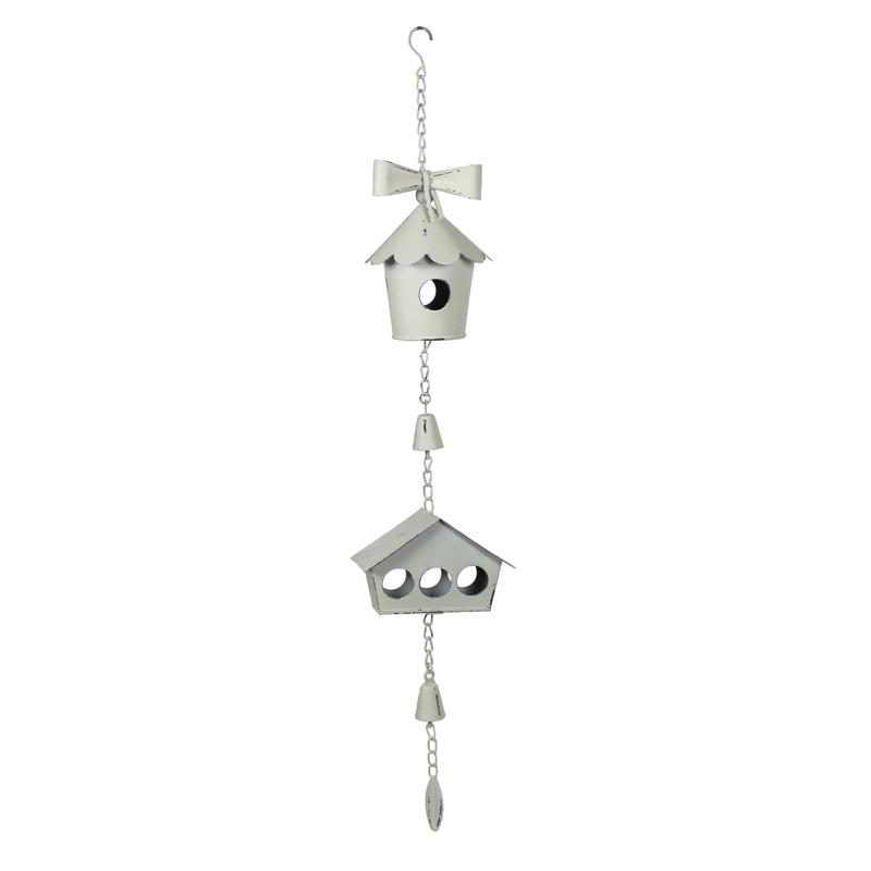 Jetzt kaufen deko h nger metall vogelhaus cremewei for Metall deko shop