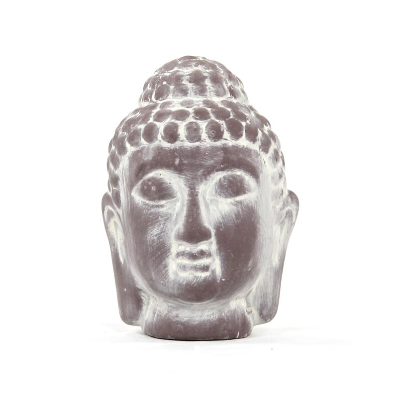 jetzt kaufen deko figur buddha kopf klein 16 cm 2 st ck der daro deko online shop deko. Black Bedroom Furniture Sets. Home Design Ideas