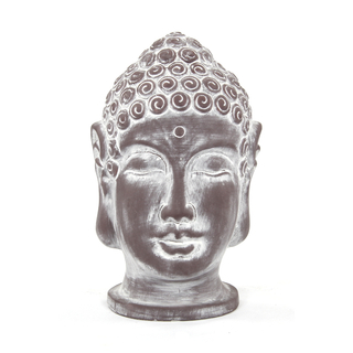 jetzt kaufen deko figur buddha kopf gro 26 cm 1 st ck der daro deko online shop deko. Black Bedroom Furniture Sets. Home Design Ideas