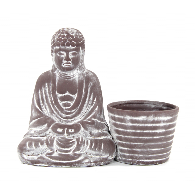 deko figur buddha mit pflanztopf 9 99 der daro deko online. Black Bedroom Furniture Sets. Home Design Ideas