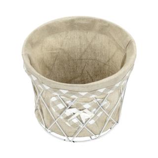 jetzt kaufen drahtkorb rund 3er set mit stoffeinsatz der daro deko online shop deko aus. Black Bedroom Furniture Sets. Home Design Ideas