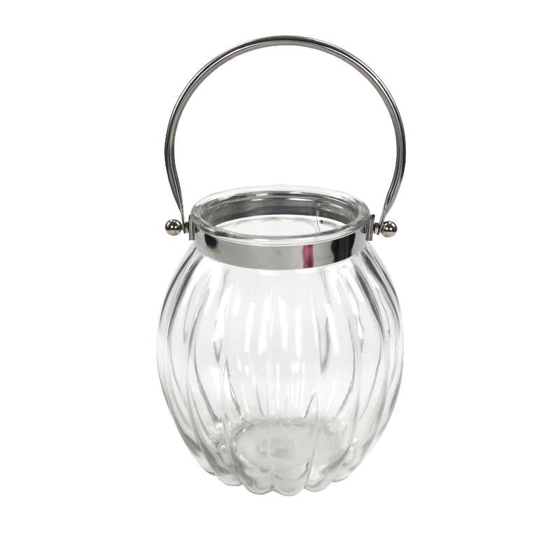 jetzt kaufen echtglas laterne mit metallb gel gro der daro deko online shop deko aus. Black Bedroom Furniture Sets. Home Design Ideas