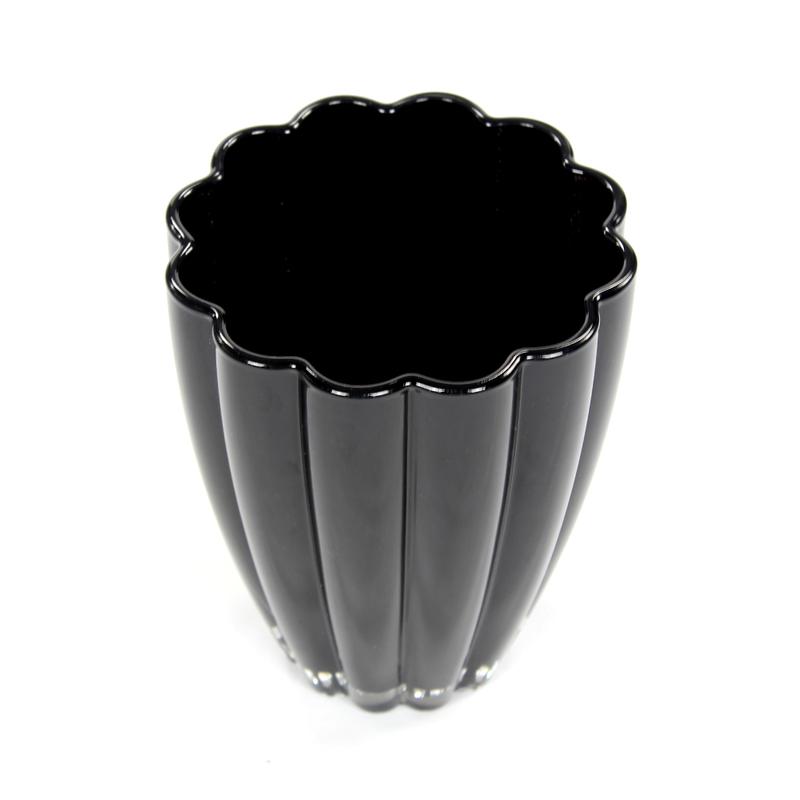 orchideen topf aus glas bloom 14 x 17cm schwarz 8 99. Black Bedroom Furniture Sets. Home Design Ideas