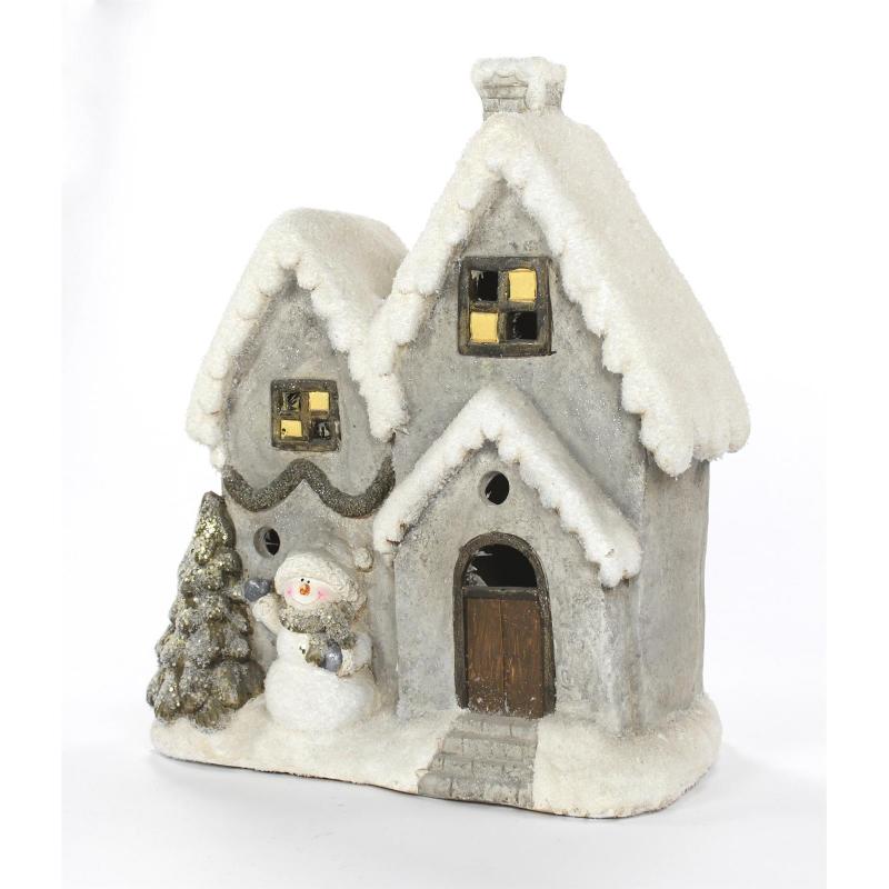 jetzt kaufen deko winterhaus 47 cm beleuchtet der daro deko online shop deko aus. Black Bedroom Furniture Sets. Home Design Ideas