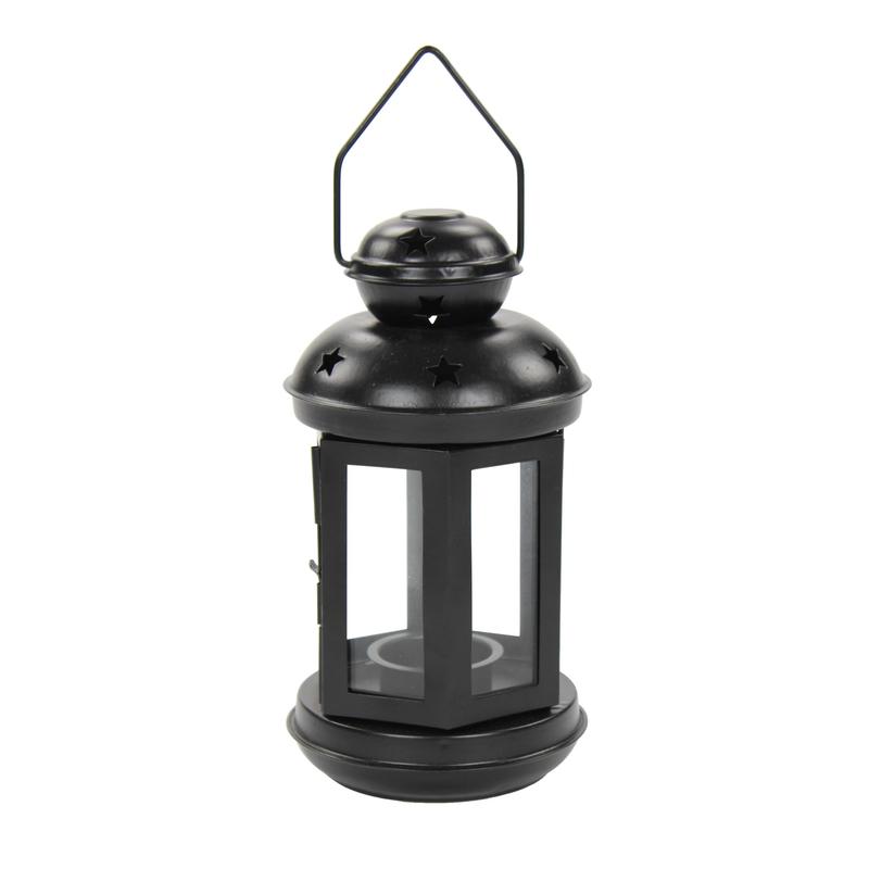 teelicht laterne 1 st ck gro schwarz 8 99 der. Black Bedroom Furniture Sets. Home Design Ideas