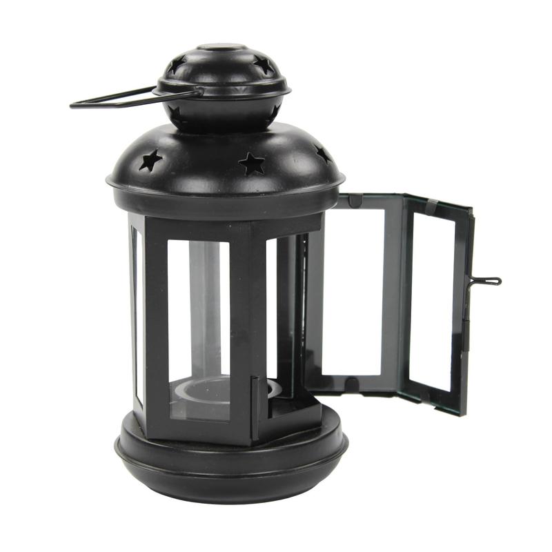 jetzt kaufen teelicht laterne 1 st ck gro schwarz. Black Bedroom Furniture Sets. Home Design Ideas