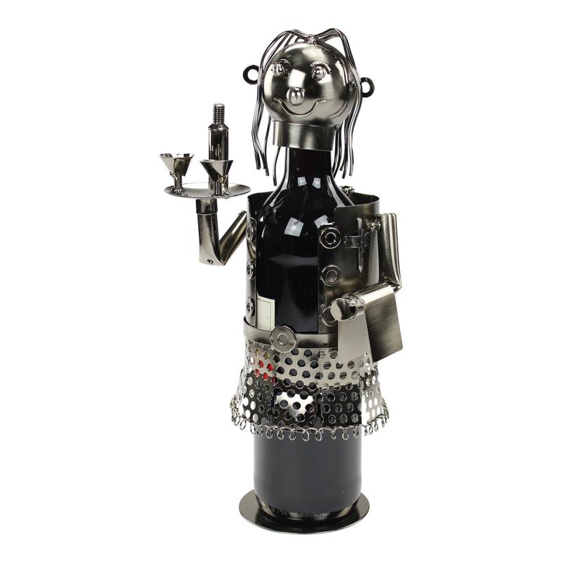Jetzt kaufen metall flaschenhalter kellnerin der daro for Metall deko shop