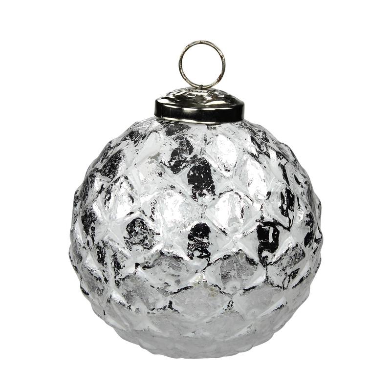 glas weihnachtskugeln 4 st ck ananas 10cm silber 7 99. Black Bedroom Furniture Sets. Home Design Ideas