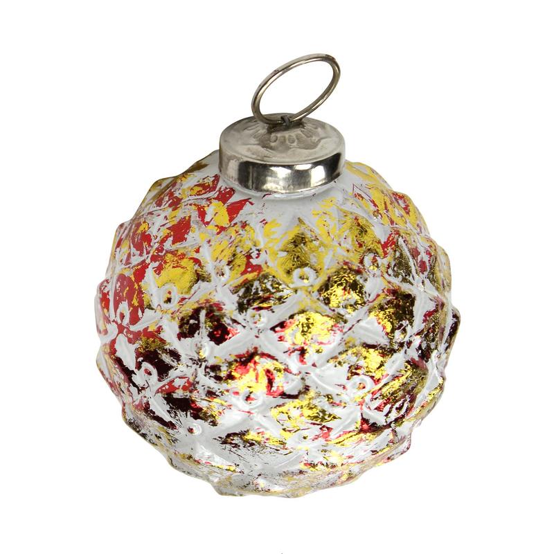 jetzt kaufen glas weihnachtskugeln 4 st ck ananas 8 cm rot gold der daro deko online shop. Black Bedroom Furniture Sets. Home Design Ideas