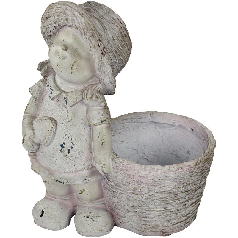 jetzt kaufen deko figur mit pflanzgef m dchen stehend der daro deko online shop deko aus