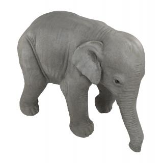 Deko Figur Elefant silber zum bepflanzen Deko-Elefant Pflanzgefäß