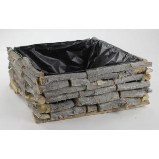 jetzt kaufen holz blumen kasten mit kunststoff folie der daro deko online shop deko aus. Black Bedroom Furniture Sets. Home Design Ideas