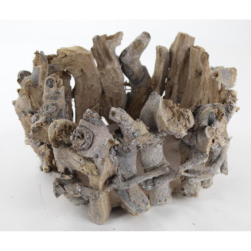 jetzt kaufen holz pflanz nest mit kunststoff einsatz der daro deko online shop deko aus. Black Bedroom Furniture Sets. Home Design Ideas