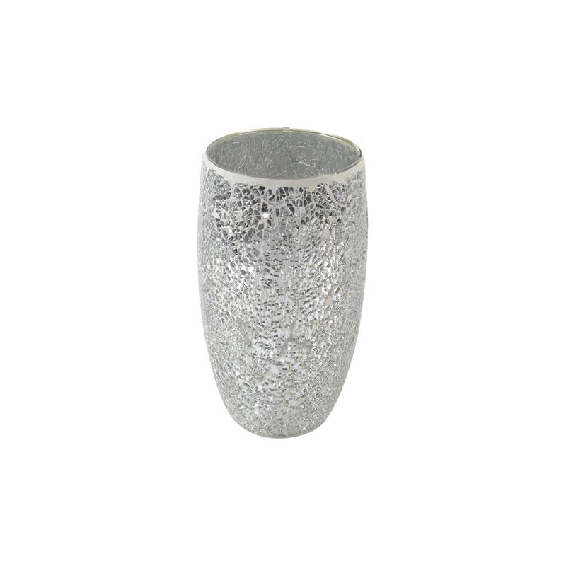 glas vase mosaik silber hellgrau 14 x 25cm 13 99 der daro de. Black Bedroom Furniture Sets. Home Design Ideas
