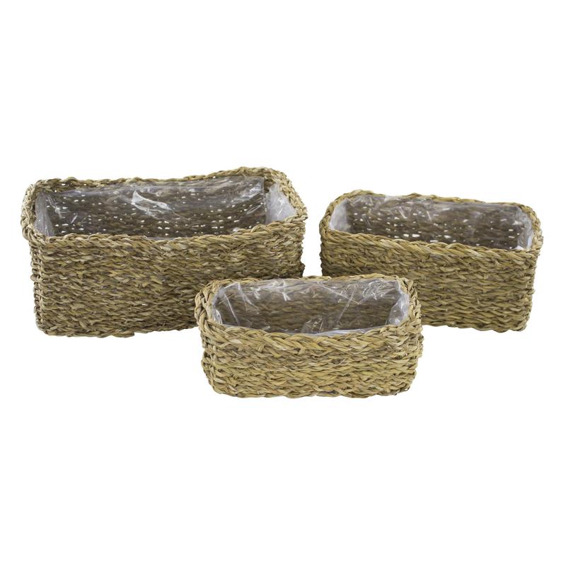 jetzt kaufen seegras korb mit einsatz b l nglich 3 st ck s m und l der daro deko. Black Bedroom Furniture Sets. Home Design Ideas