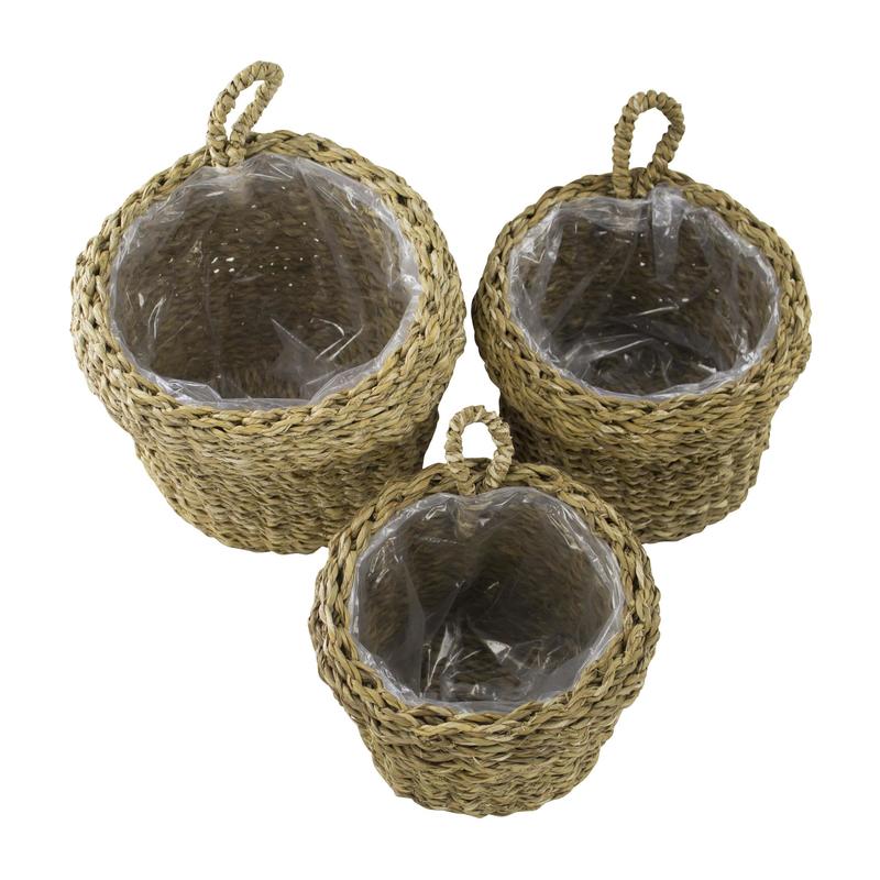 jetzt kaufen seegras korb mit einsatz d mit schlaufe 3 st ck s m und l der daro deko. Black Bedroom Furniture Sets. Home Design Ideas