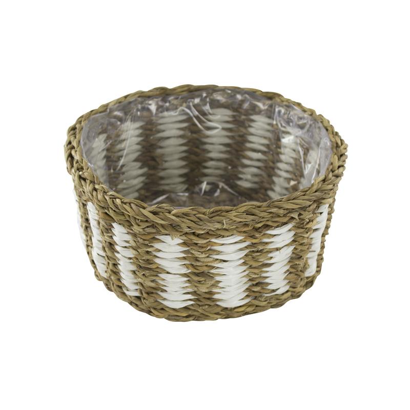 jetzt kaufen seegras korb mit einsatz e zweifarbig 1 st ck s der daro deko online shop. Black Bedroom Furniture Sets. Home Design Ideas