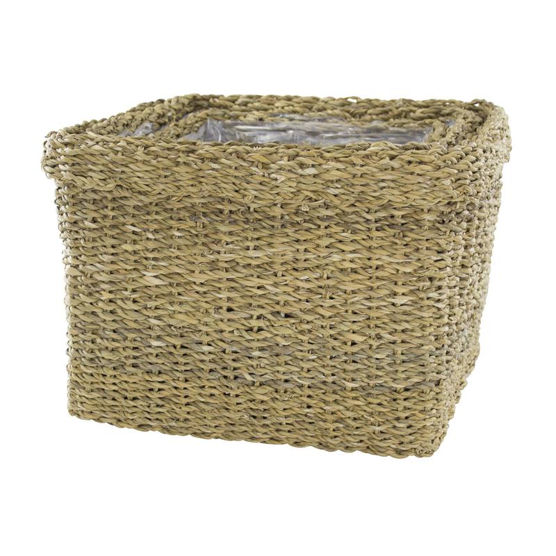 jetzt kaufen seegras korb mit einsatz f dicker rand 3 st ck s m und l der daro deko. Black Bedroom Furniture Sets. Home Design Ideas