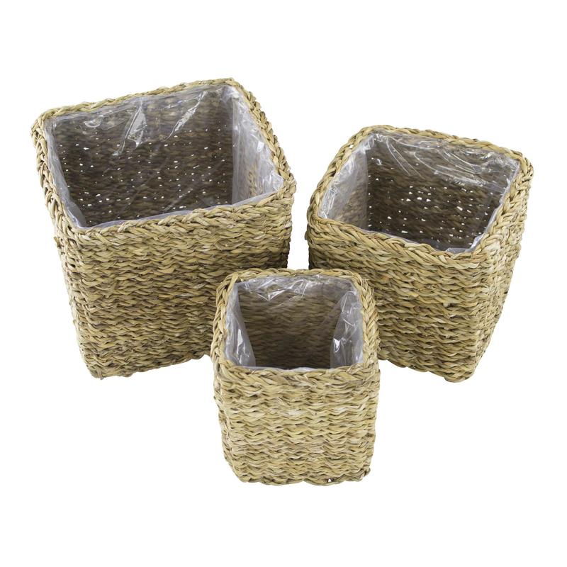 jetzt kaufen seegras korb mit einsatz g eckig gerade 3 st ck s m und l der daro deko. Black Bedroom Furniture Sets. Home Design Ideas