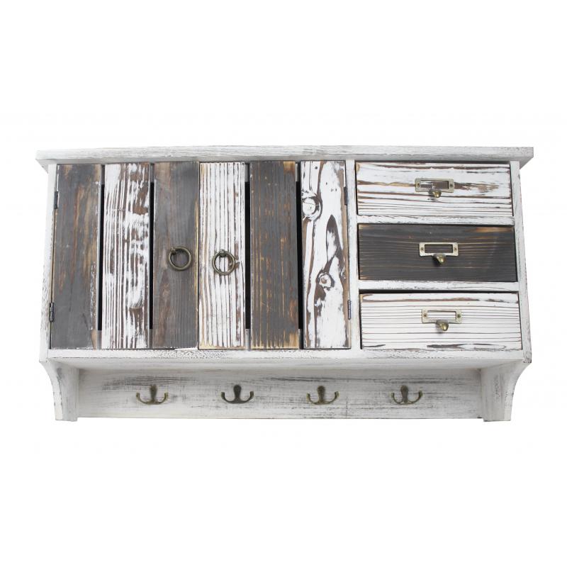 jetzt kaufen holz garderobe wei grau der daro deko. Black Bedroom Furniture Sets. Home Design Ideas