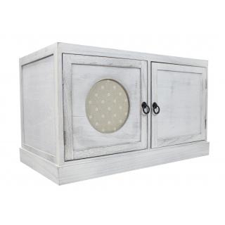 Jetzt Kaufen Holz Sideboard Weiss Grau Der Daro Deko Online Shop