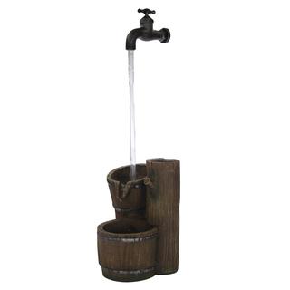jetzt kaufen brunnen set mit stromstecker und pumpe e wasserhahn der daro deko online. Black Bedroom Furniture Sets. Home Design Ideas