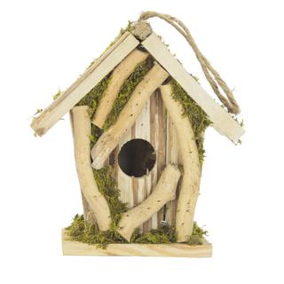 jetzt kaufen holz vogelhaus zum aufh ngen b 14 cm x 10. Black Bedroom Furniture Sets. Home Design Ideas