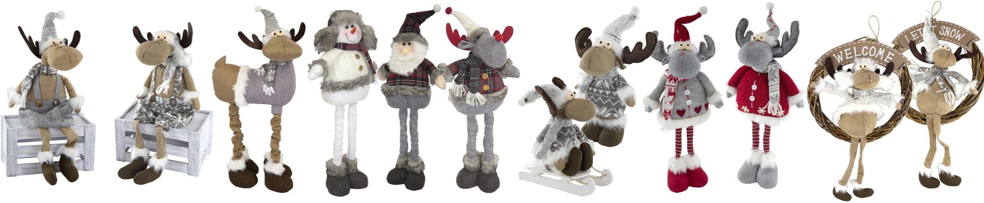 Weihnachtliche Deko Figuren aus Stoff